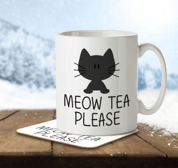 Meow Tea Please - Mug and Coaster - MNC ANI 009 ENV