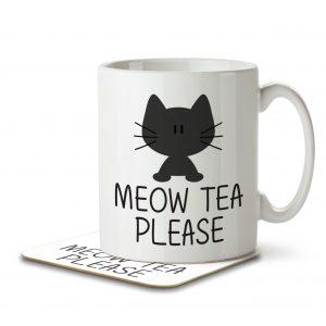 Meow Tea Please – Mug and Coaster