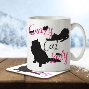 Crazy Cat Lady – Mug and Coaster