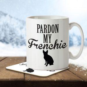 Pardon My Frenchie – Mug and Coaster