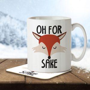 Oh For Fox Sake – Mug and Coaster