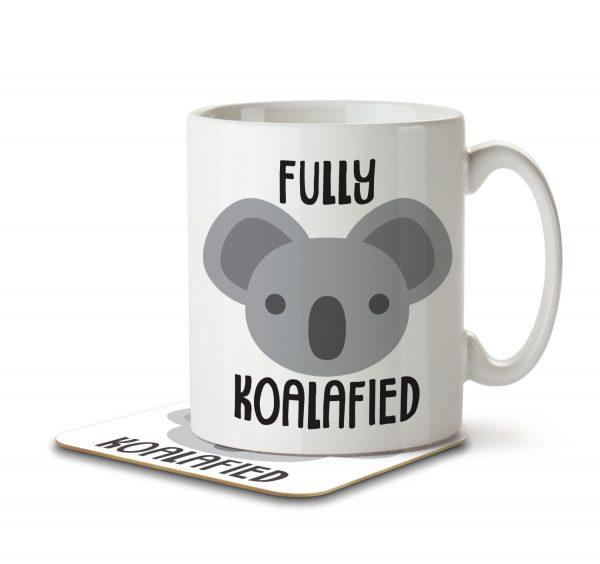 Fully Koalafied - Mug and Coaster - MNC ANI 023 WHITE