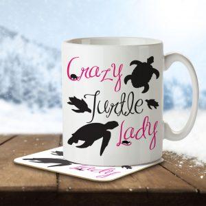 Crazy Turtle Lady – Mug and Coaster