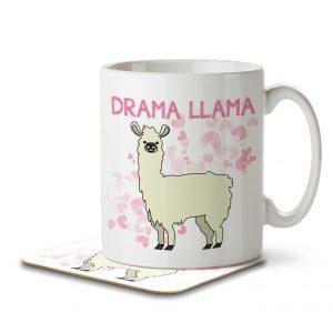 Drama Llama – Mug and Coaster