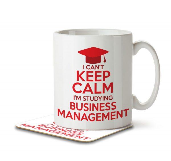 I Can't Keep Calm I'm Studying Business Management - Mug and Coaster - MNC CKC 017 WHITE