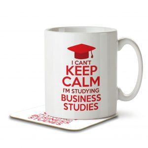 I Can't Keep Calm I'm Studying Business Studies – Mug and Coaster