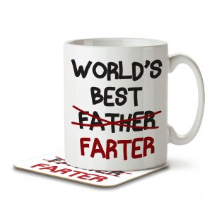 World's Best Farter (Father) – Mug and Coaster