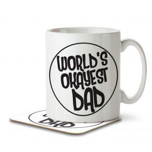 World's Okayest Dad – Mug and Coaster