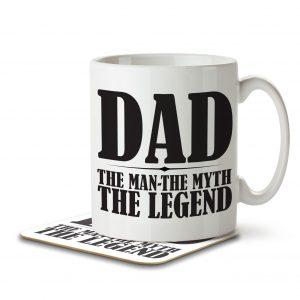 Dad The Man The Myth The Legend – Mug and Coaster