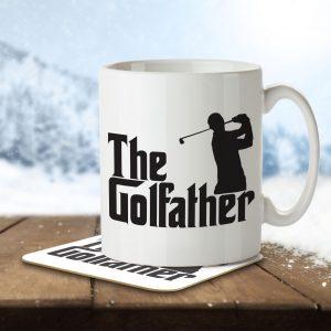 The Golfather – Mug and Coaster