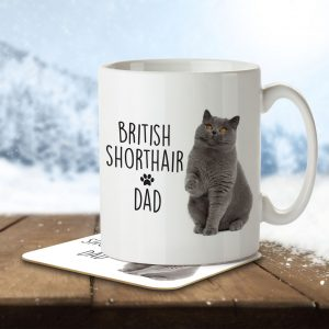 British Shorthair Dad – Mug and Coaster