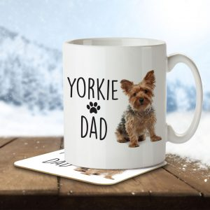 Yorkie Dad – Mug and Coaster