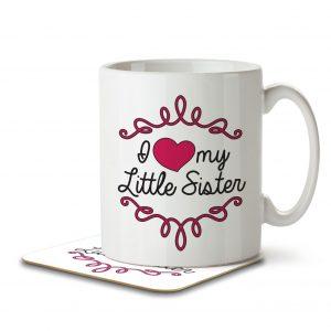 I Love My Little Sister – Mug and Coaster