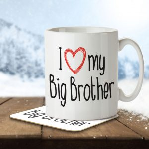 I Love My Big Brother – Mug and Coaster