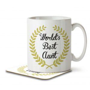 World's Best Aunt – Mug and Coaster