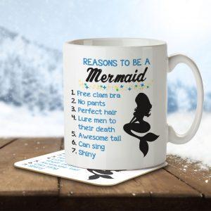 Reasons To Be a Mermaid – Mug and Coaster