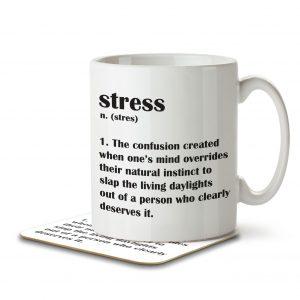 Stress Funny Definition – Mug and Coaster