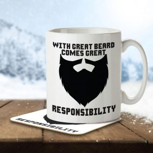 With Great Beard Comes Great Responsibility – Mug and Coaster