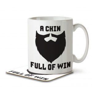 A Chin Full of Win – Mug and Coaster