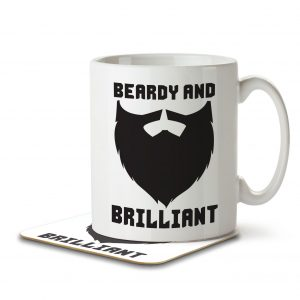 Beardy and Brilliant – Mug and Coaster