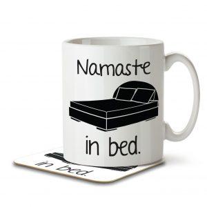 Namaste in Bed – Mug and Coaster