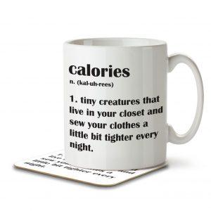 Calories Definition Funny – Mug and Coaster