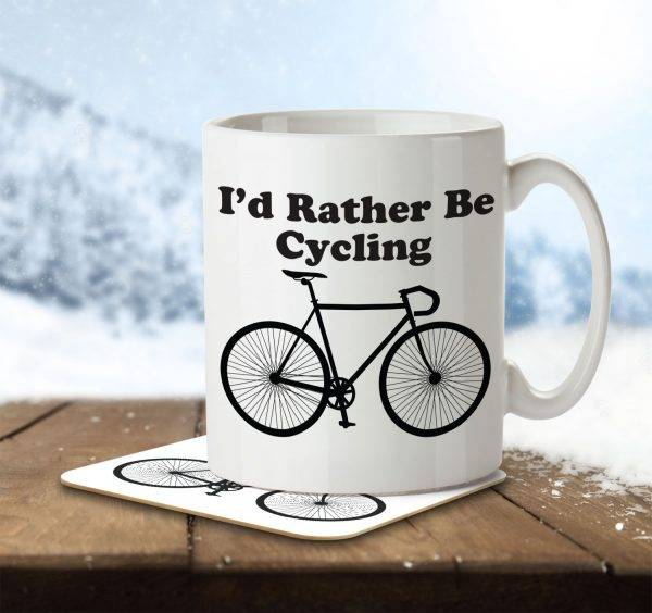 I'd Rather By Cycling - Mug and Coaster - MNC HOB 001 ENV
