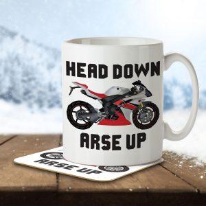 Head Down, Arse Up – Mug and Coaster