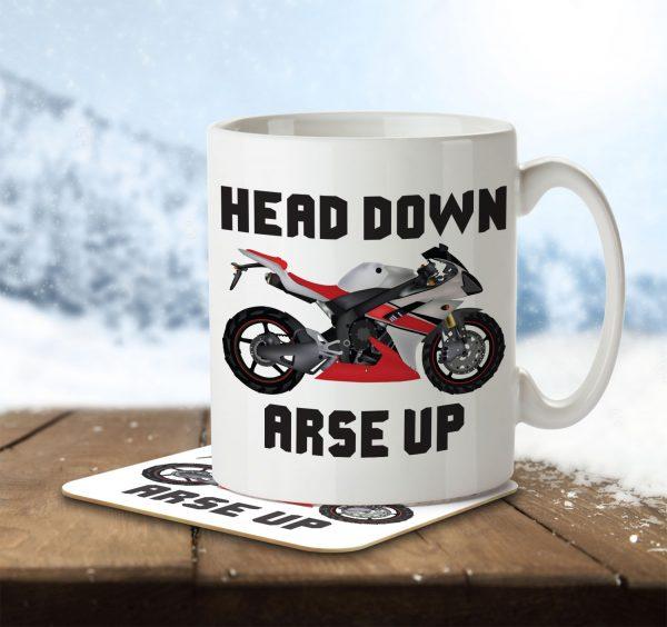 Head Down, Arse Up - Mug and Coaster - MNC HOB 002 ENV