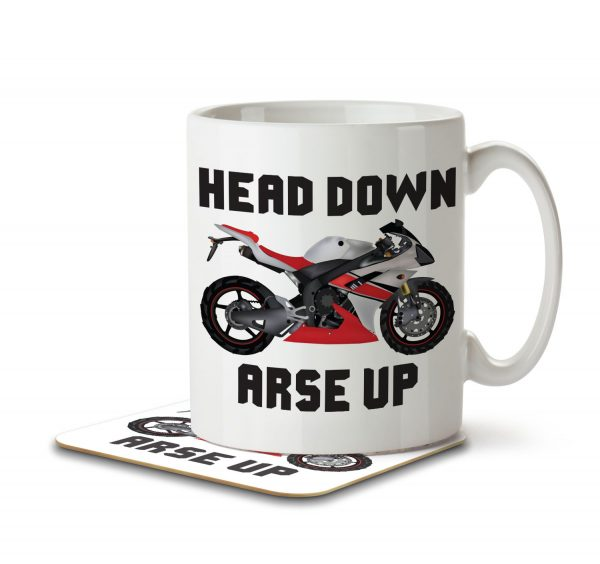 Head Down, Arse Up - Mug and Coaster - MNC HOB 002 WHITE