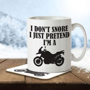 I Don't Snore, I Just Pretend I'm a Motorbike – Mug and Coaster