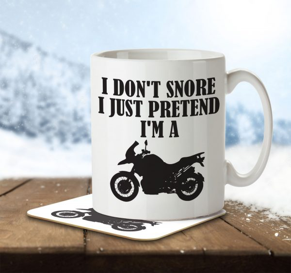 I Don't Snore, I Just Pretend I'm a Motorbike - Mug and Coaster - MNC HOB 004 ENV