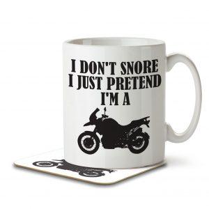 I Don't Snore, I Just Pretend I'm a Motorbike – Mug and Coaster