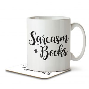 Sarcasm + Books – Mug and Coaster
