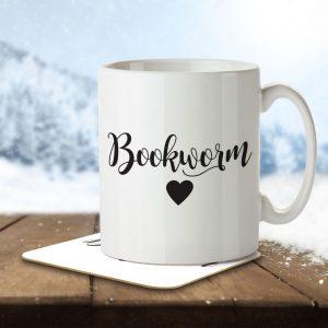 Bookworm – Mug and Coaster
