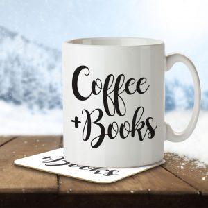 Coffee + Books – Mug and Coaster