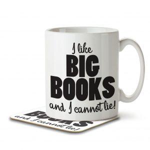 I Like Big Books and I Cannot Lie – Mug and Coaster