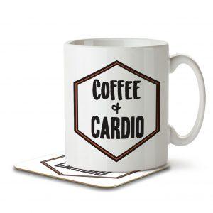 Coffee + Cardio – Mug and Coaster