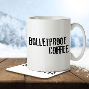 Bulletproof Coffee – Keto Diet – Mug and Coaster