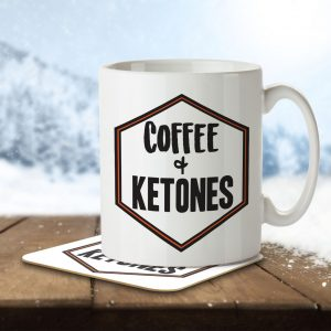 Coffee + Ketones – Mug and Coaster