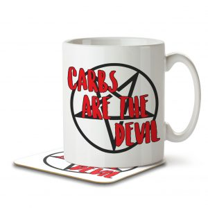 Carbs Are The Devil – Keto – Mug and Coaster