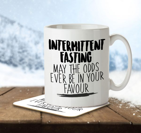 Intermittent Fasting May the Odds Be in Your Favour - Mug and Coaster - MNC HOB 039 ENV