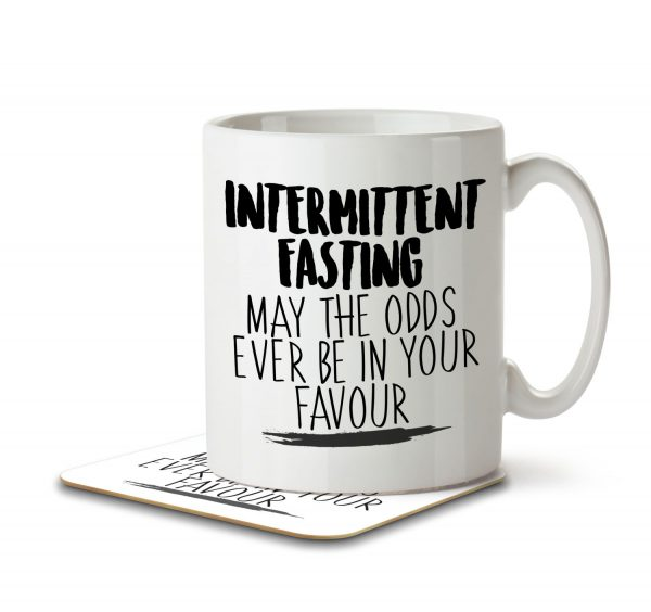 Intermittent Fasting May the Odds Be in Your Favour - Mug and Coaster - MNC HOB 039 WHITE