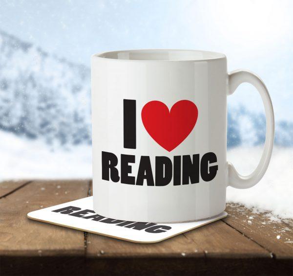 I Love Reading - Mug and Coaster - MNC ILV 018 ENV