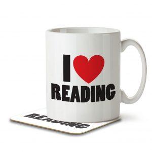 I Love Reading – Mug and Coaster