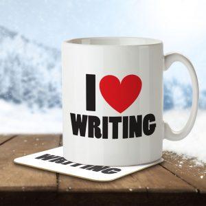 I Love Writing – Mug and Coaster