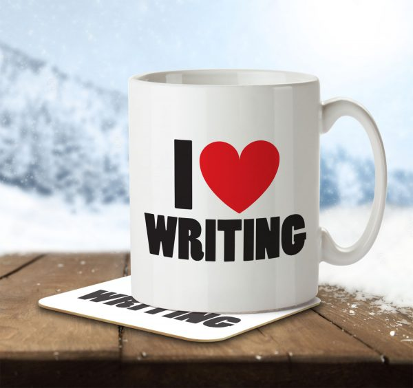 I Love Writing - Mug and Coaster - MNC ILV 019 ENV