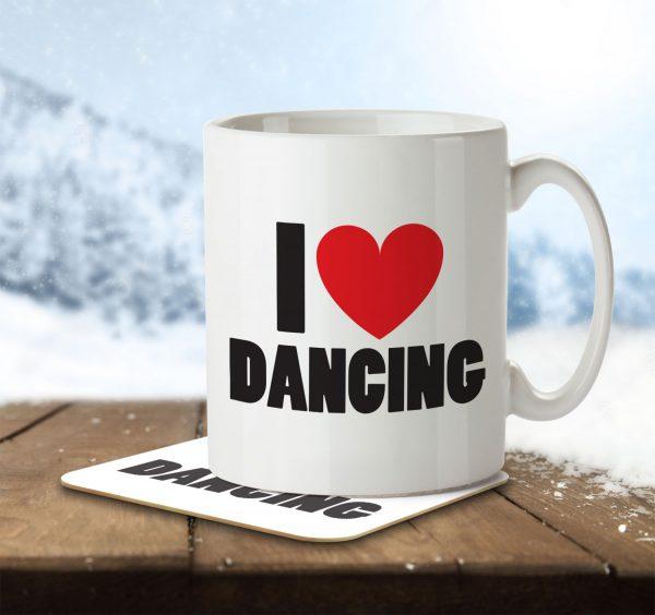 I Love Dancing - Mug and Coaster - MNC ILV 021 ENV
