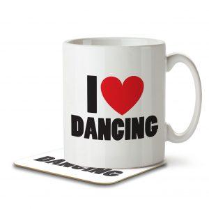 I Love Dancing – Mug and Coaster