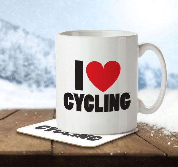I Love Cycling - Mug and Coaster - MNC ILV 022 ENV